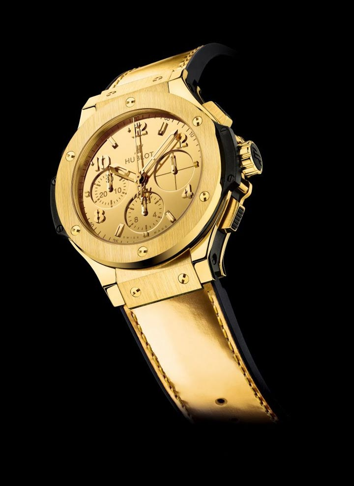 Hublot presents monochrome gold watch in Monaco